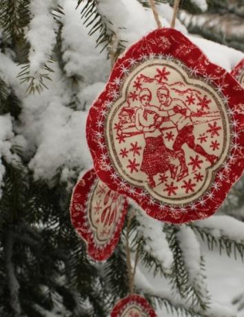 Vánoční voňavá ozdoba - Bruslaři