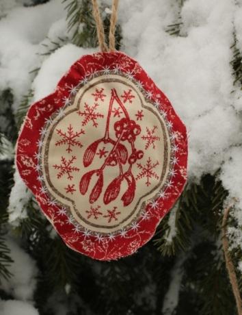 Vánoční voňavá ozdoba - Jmelí
