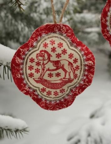 Vánoční voňavá ozdoba - Koník