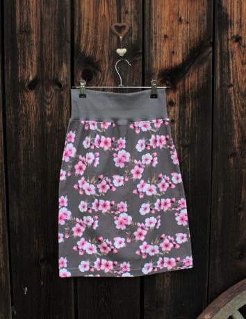 Úpletová sukně  Cherry blossoms gray