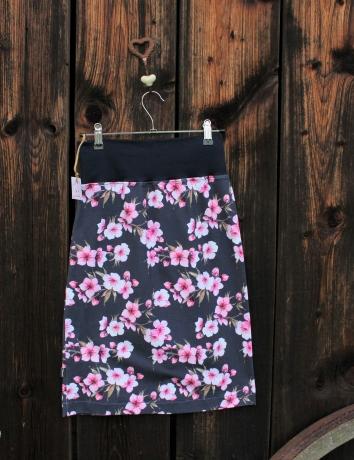 Úpletová sukně  Cherry blossoms blue