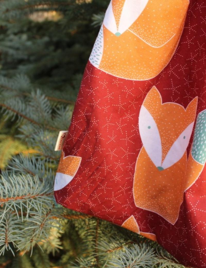 Autorská balonová sukně Lišky červené