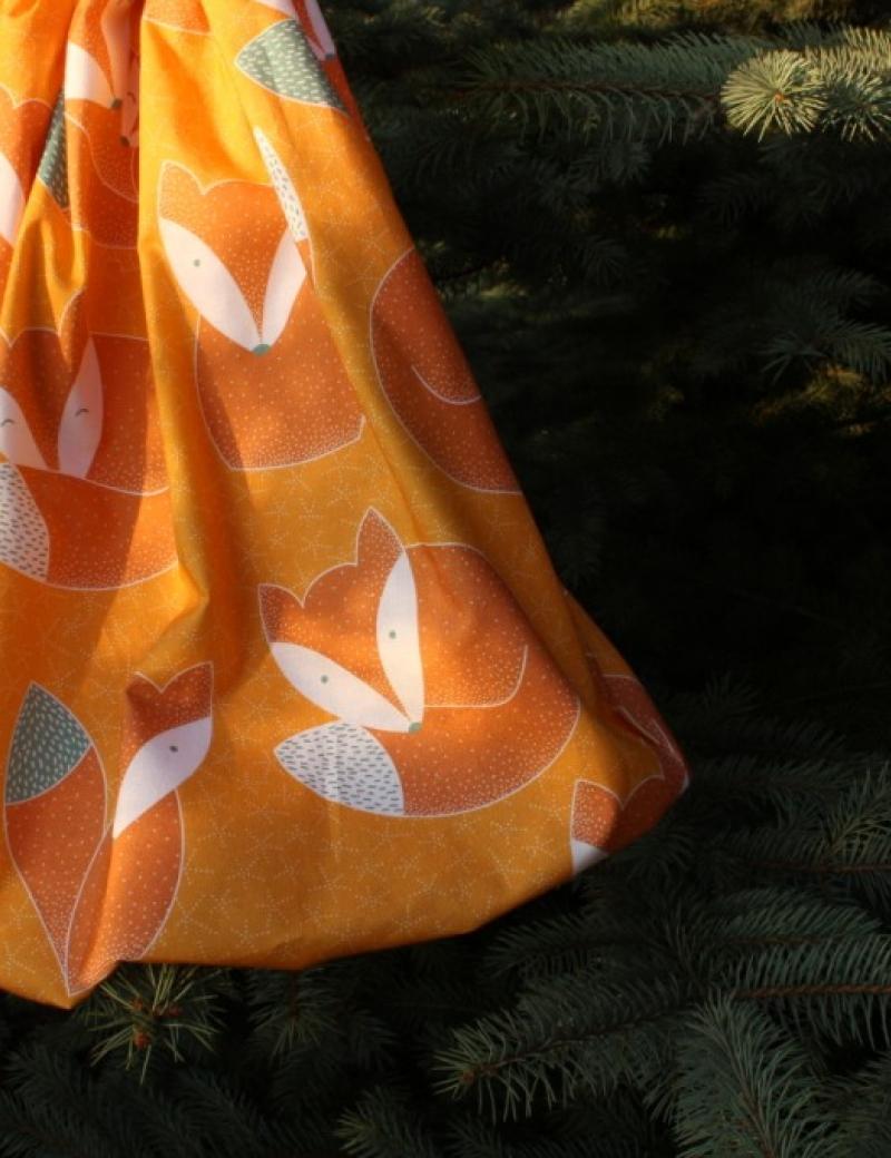 Autorská balonová sukně Lišky okrové