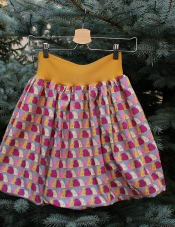 Autorská balonová sukně Pippi gray