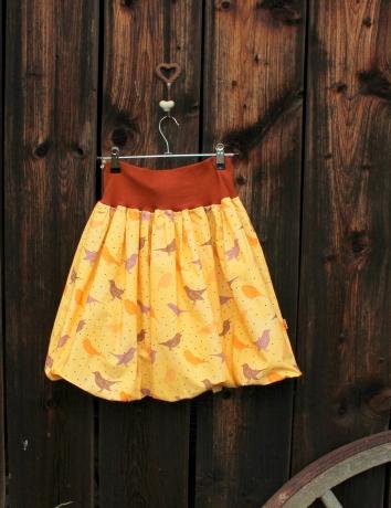 Autorská balonová sukně Pippi yellow
