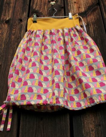 Autorská kapsová sukně Pippi grey