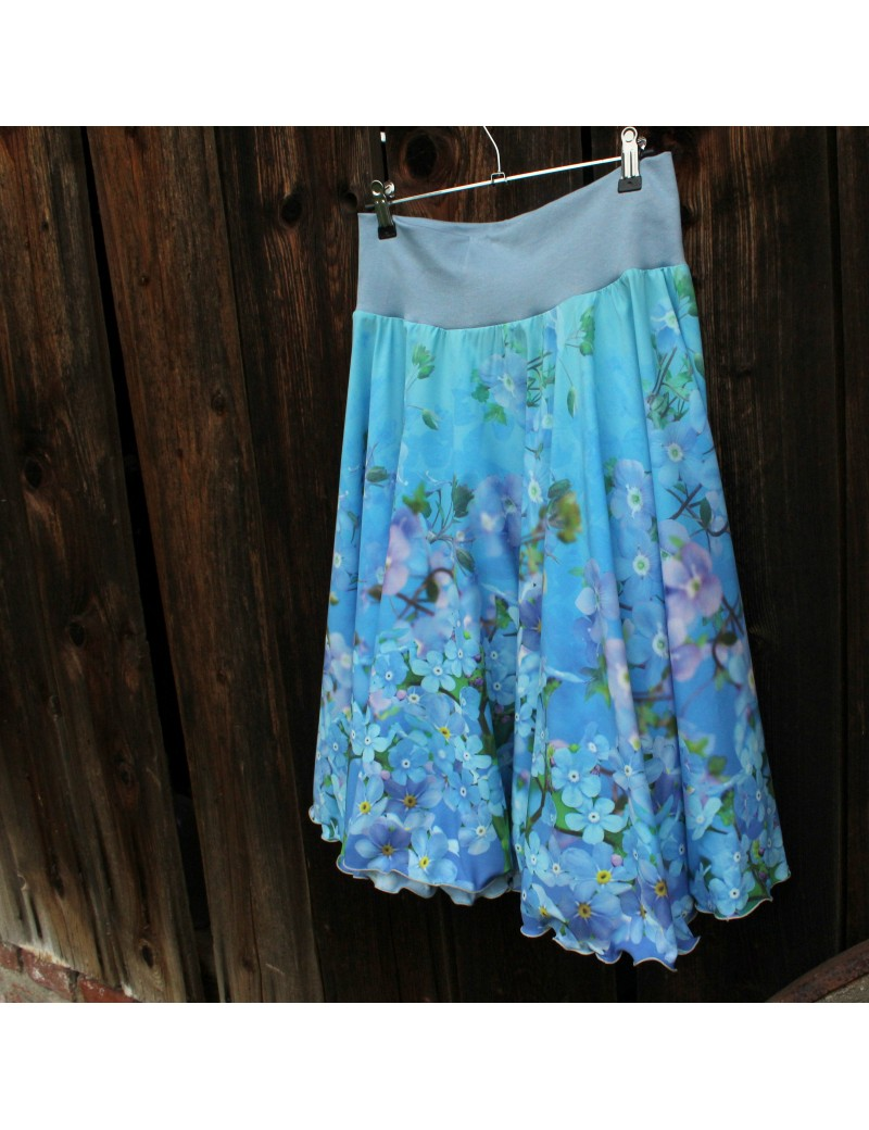 Kolová sukně Pomněnky
