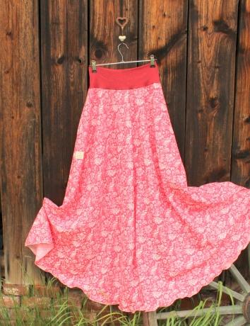 Půlkolová dlouhá lněná sukně II.