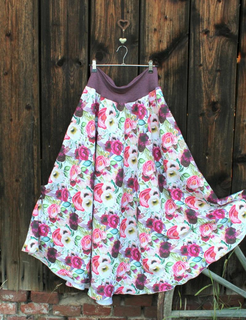 Lněná dlouhá sukně Čarovná zahrada