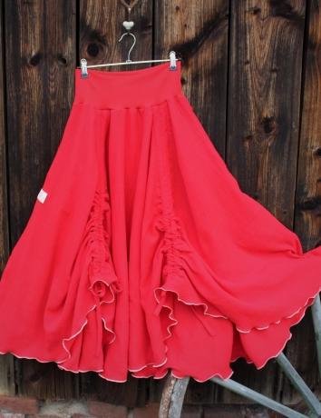 Kolová sukně Just Red
