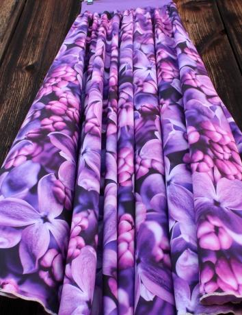 Půlkolová dlouhá sukně Šeřík fialový
