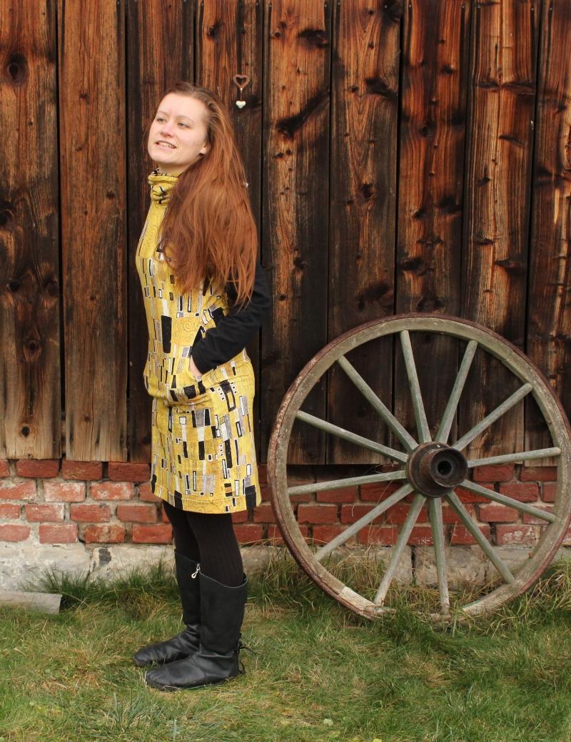 Mikinové šaty s kapucí - Klimt