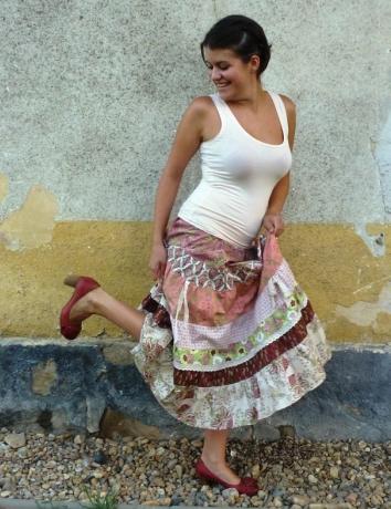 Volánová sukně BOTANICA - na dotaz dostupná do 3 týdnů